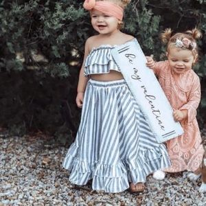 Striped top and bottom set 18-24 months
